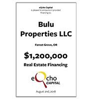 Bulu Properties/Cold Frame LLC